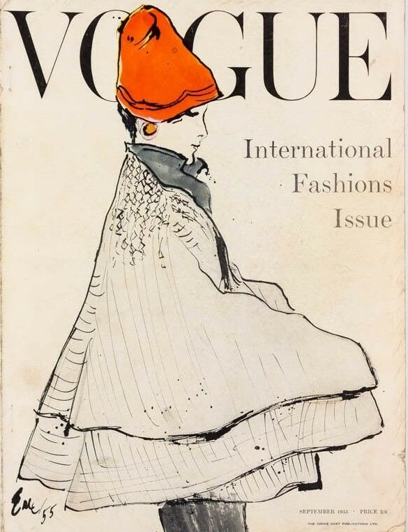 British Vogue Cover September 1955
