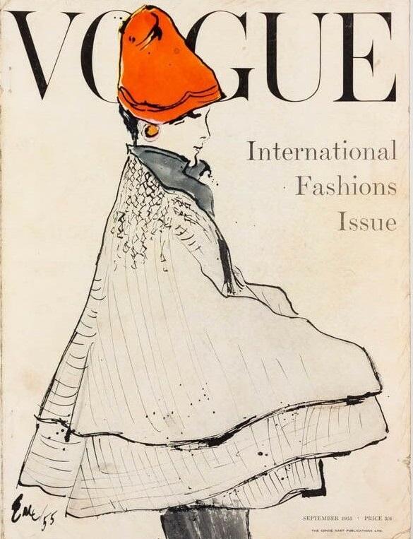 British Vogue Cover September 1955
