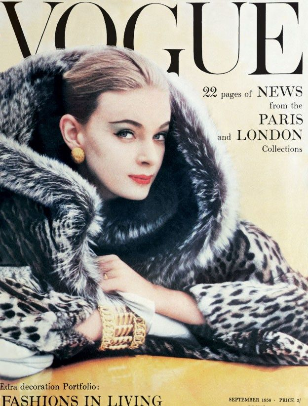 British Vogue Cover September 1958