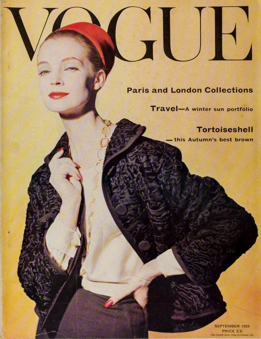 British Vogue Cover September 1959
