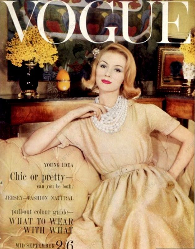 British Vogue Cover September 1960