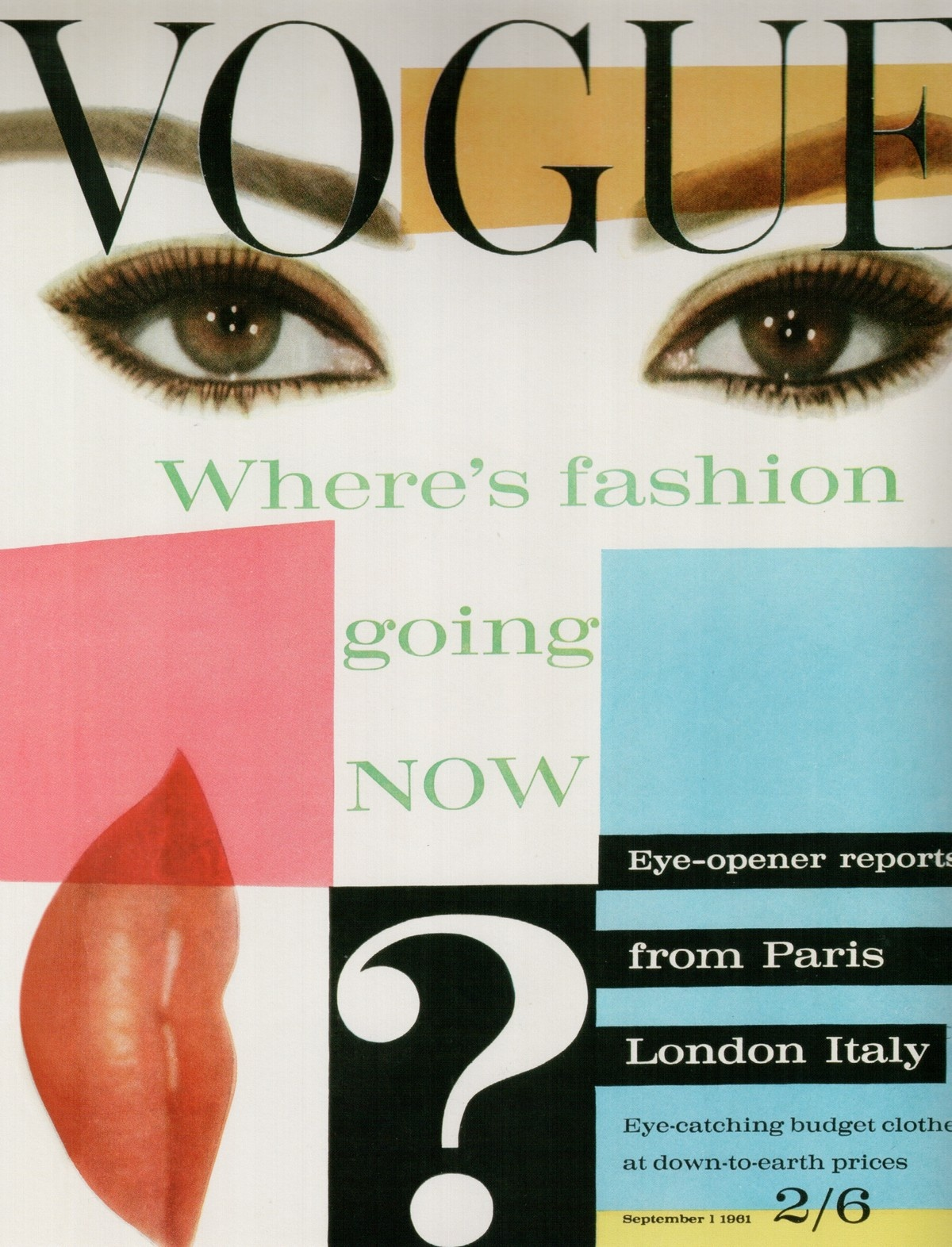 British Vogue Cover September 1961