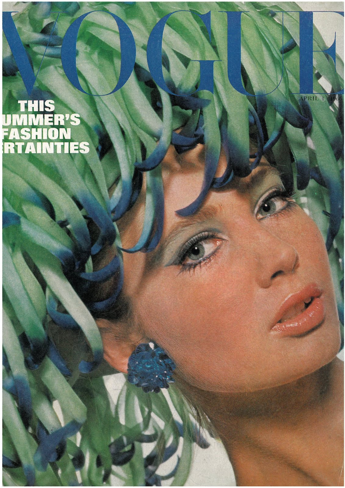 British Vogue Cover April 1966