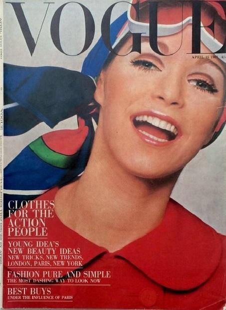 British Vogue Cover April 1967