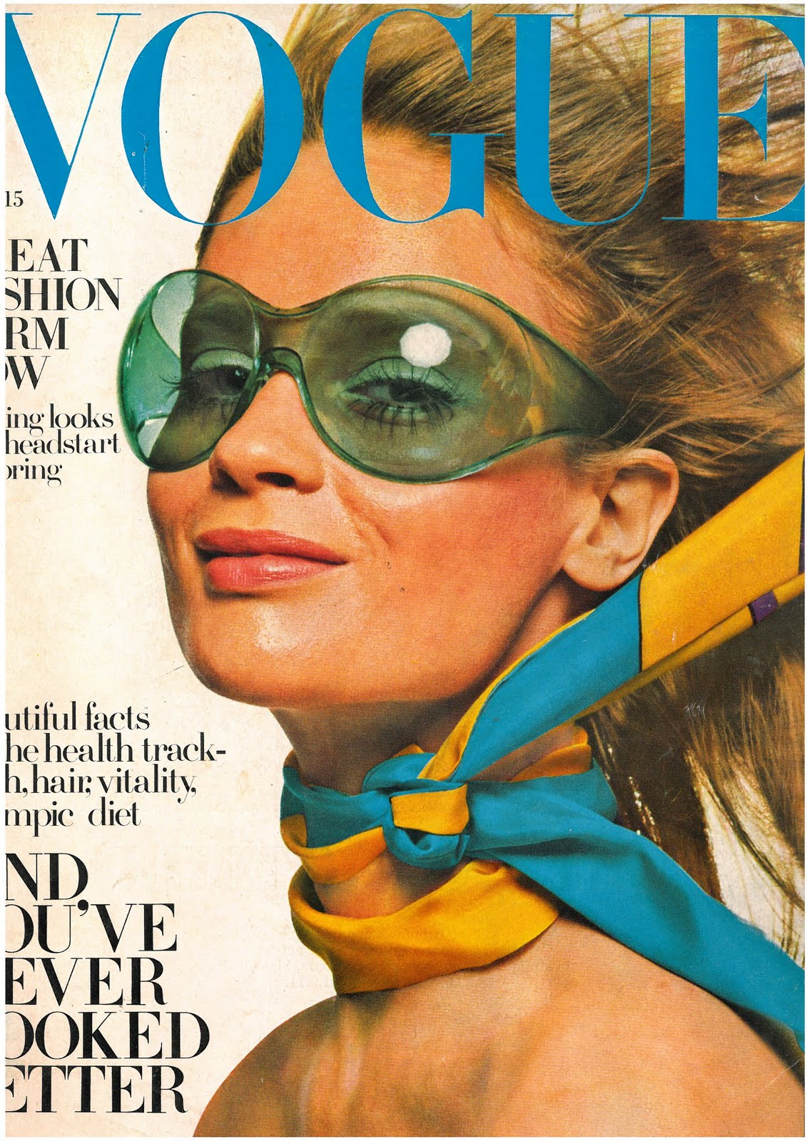 British Vogue Cover April 1968