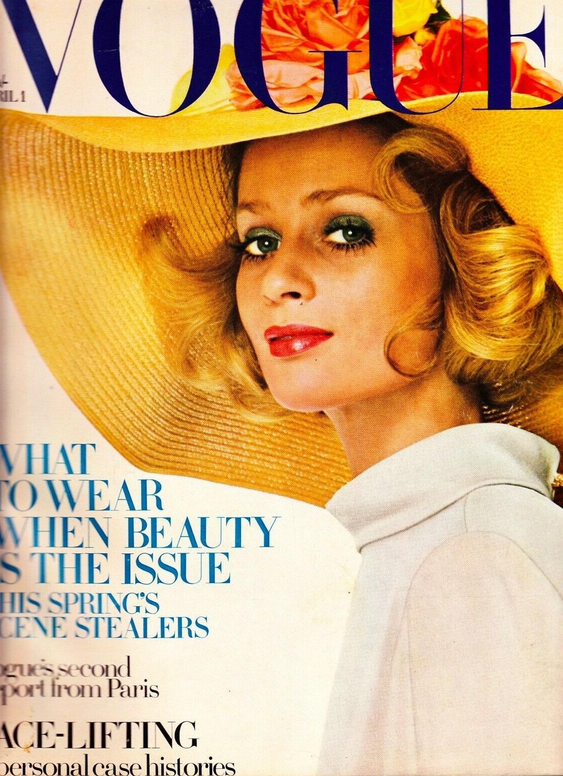 British Vogue Cover April 1968
