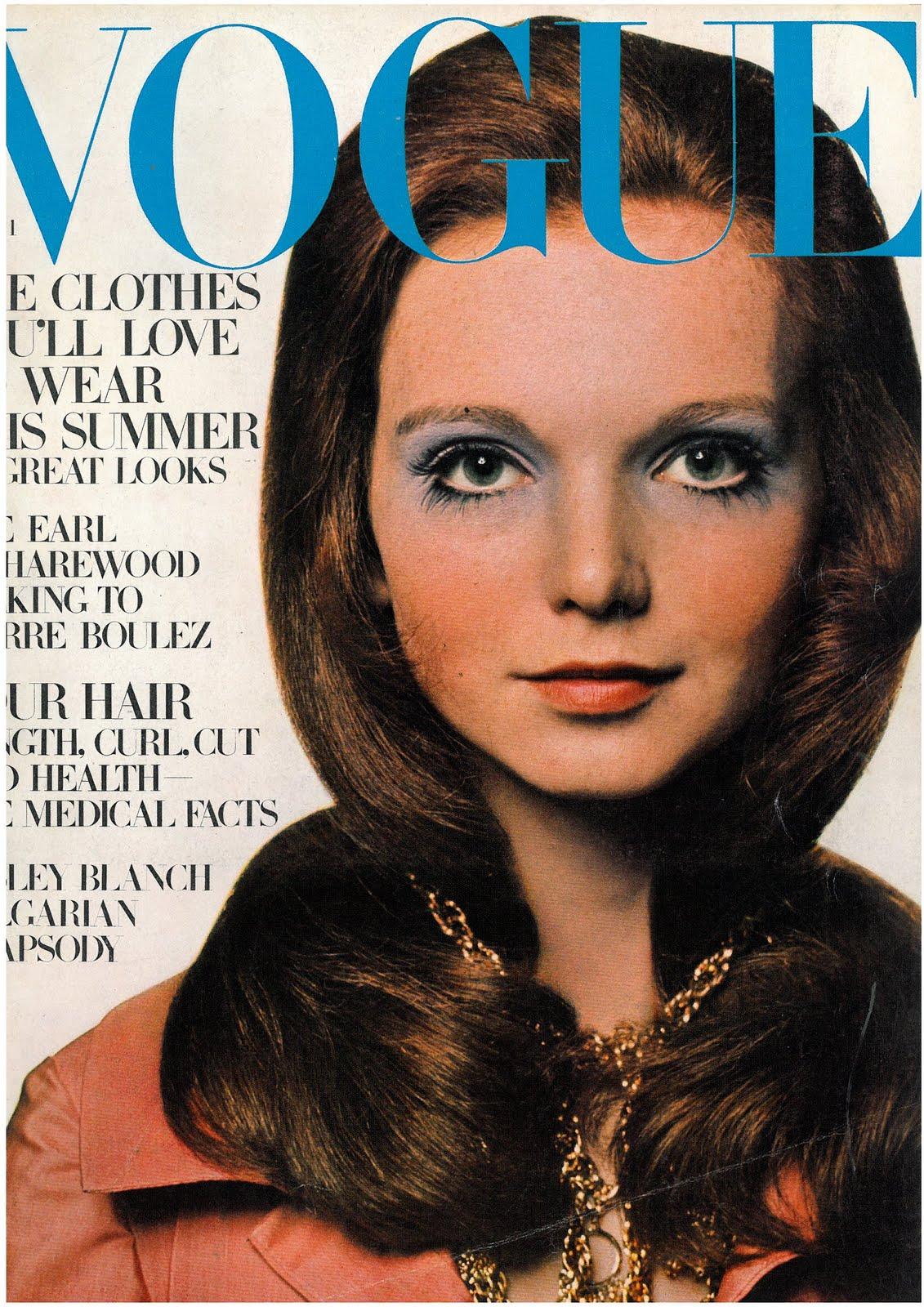 British Vogue Cover April 1969