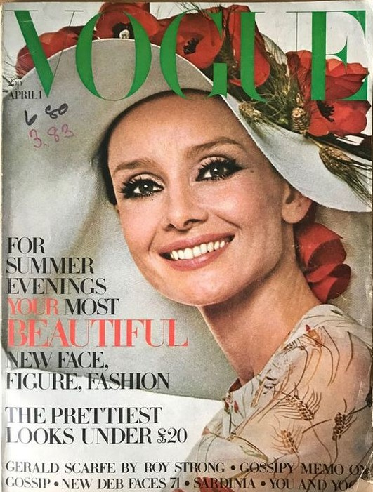 British Vogue Cover April 1971