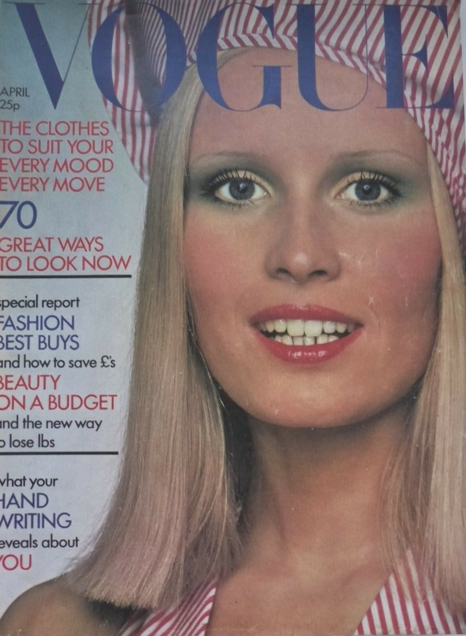 British Vogue Cover April 1972