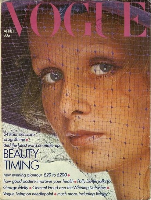 British Vogue Cover April 1973