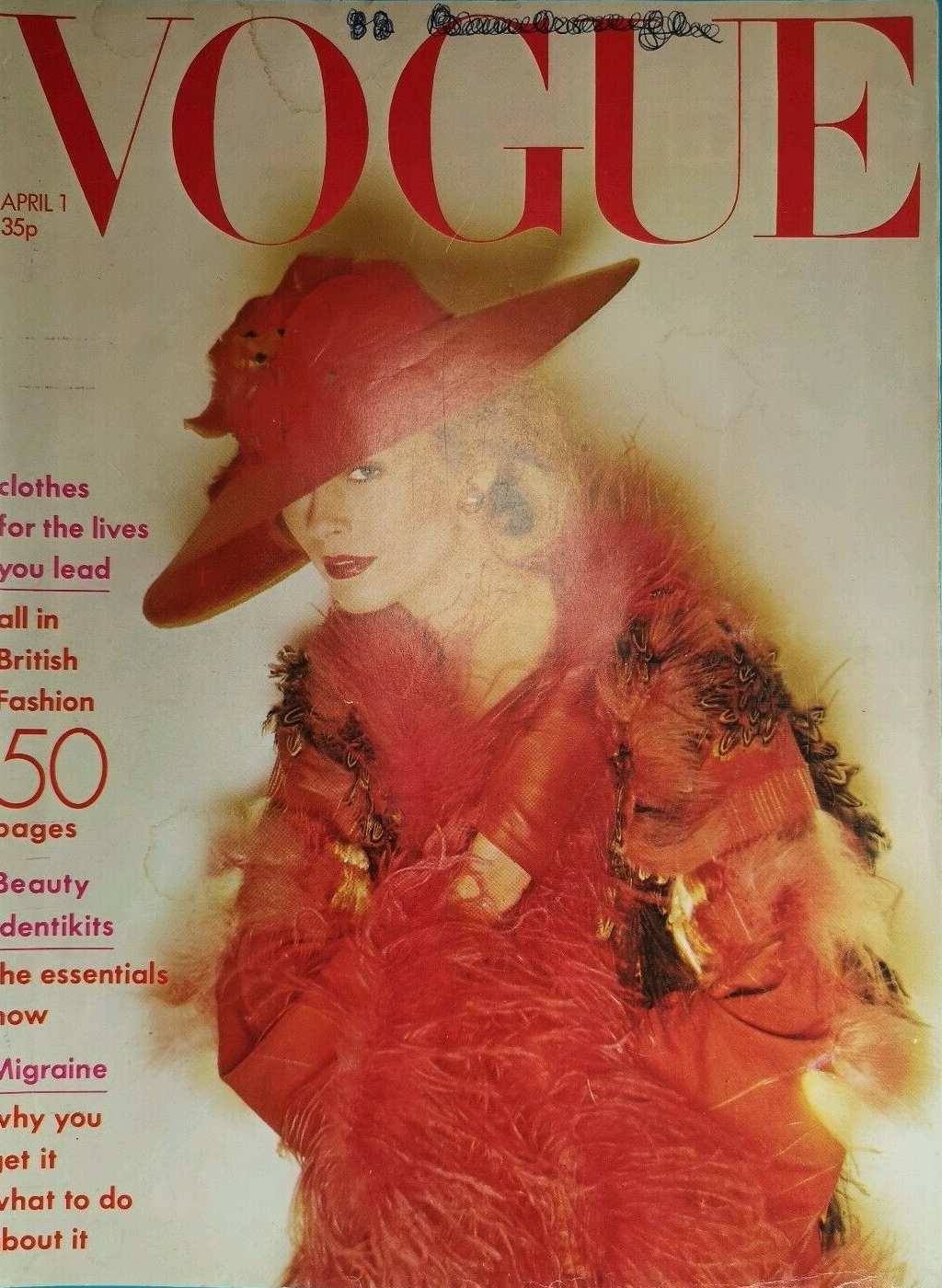 British Vogue Cover April 1974
