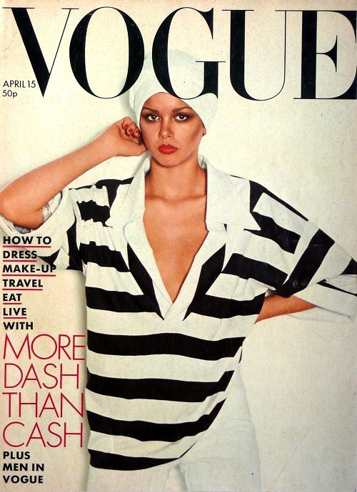 British Vogue Cover April 1976