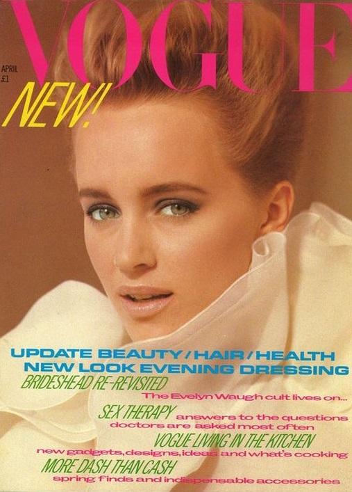 British Vogue Cover April 1981