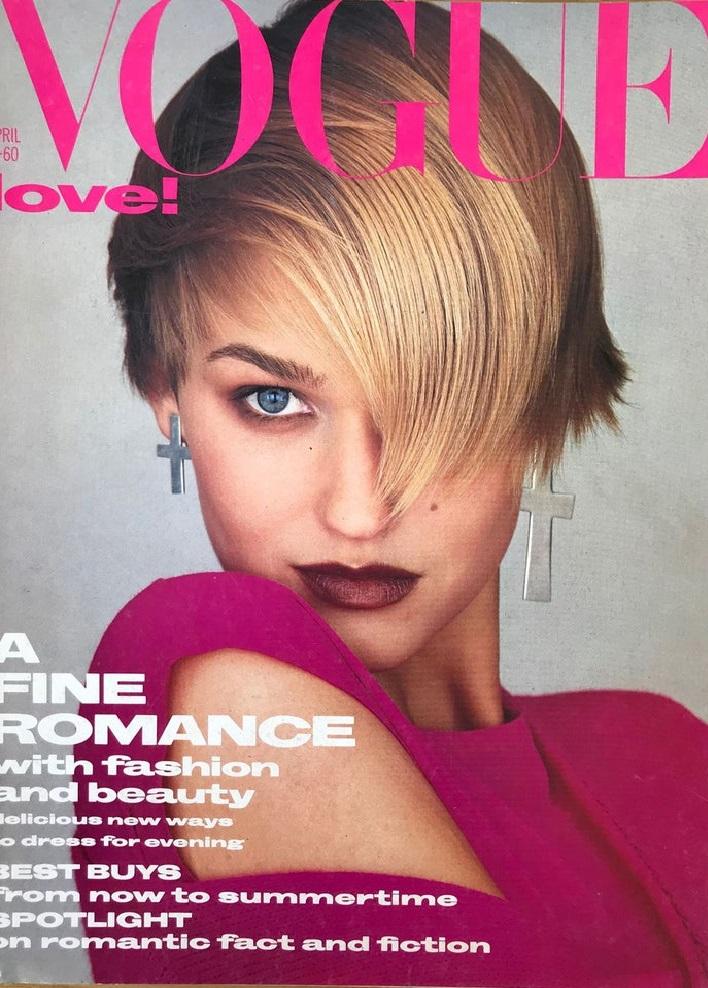 British Vogue Cover April 1985