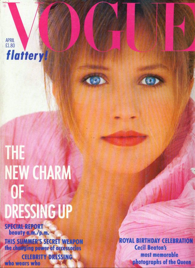 British Vogue Cover April 1986