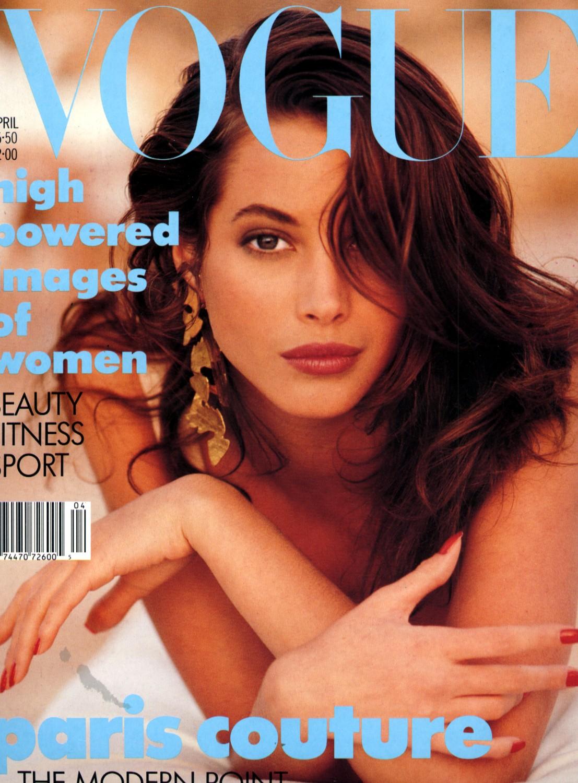 British Vogue Cover April 1988
