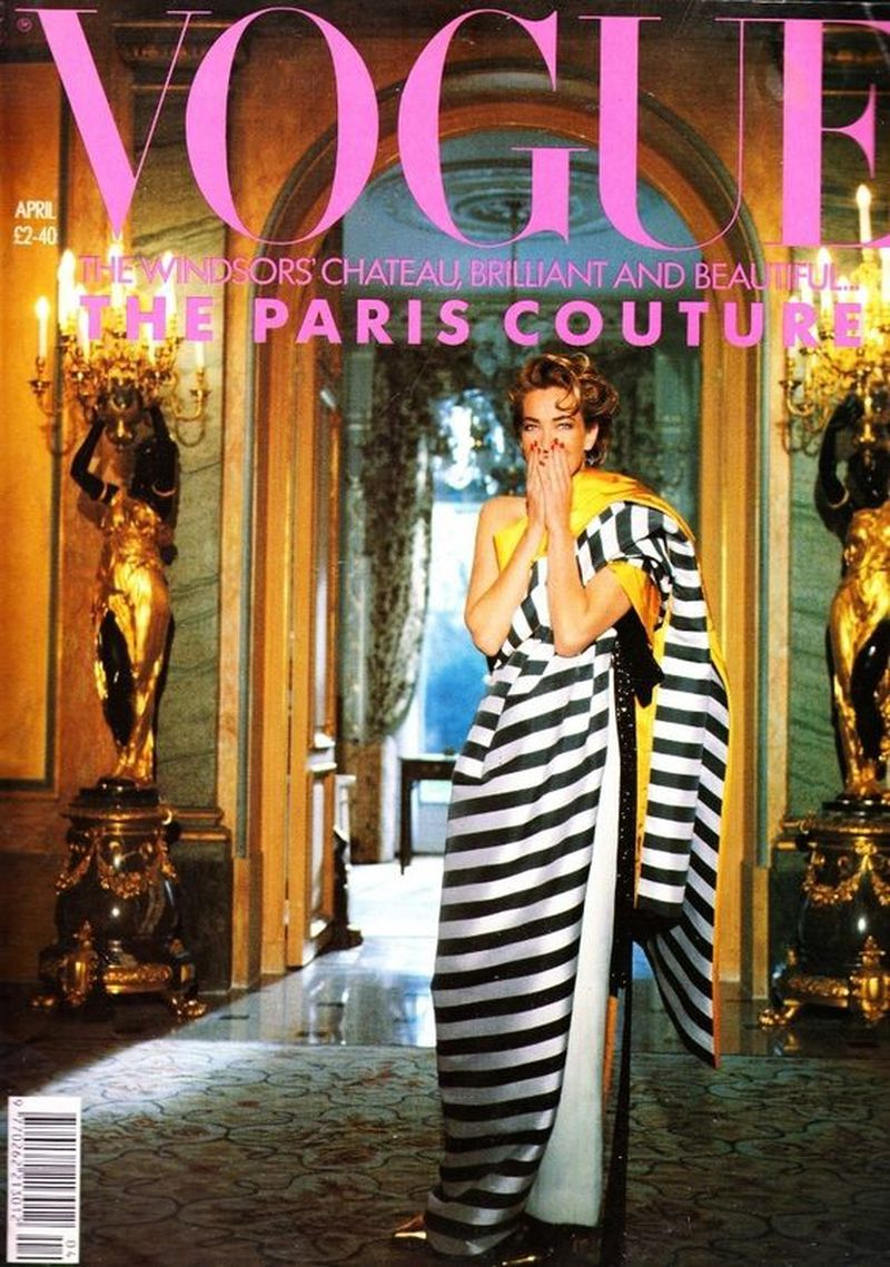 British Vogue Cover April 1990