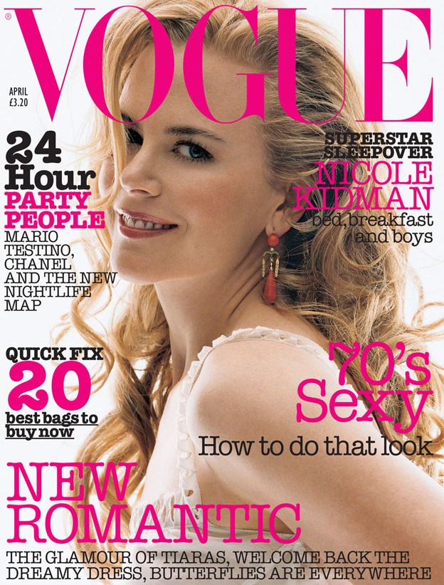 British Vogue Cover April 2002