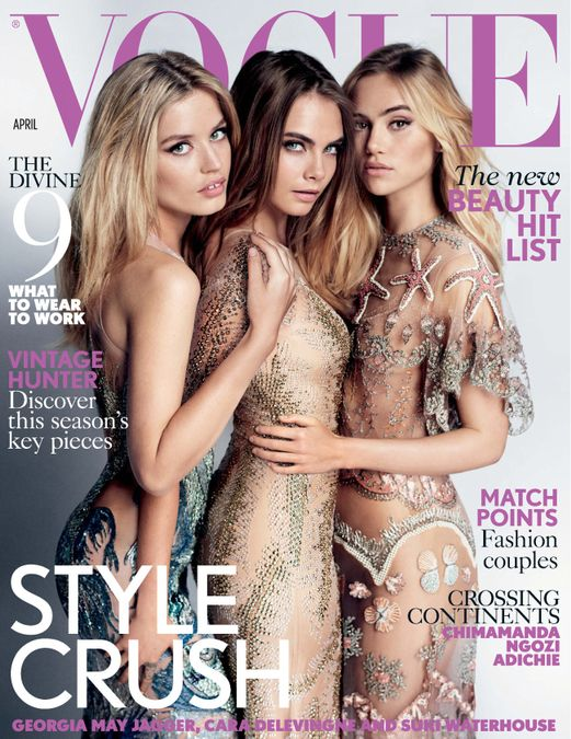 British Vogue Cover April 2015