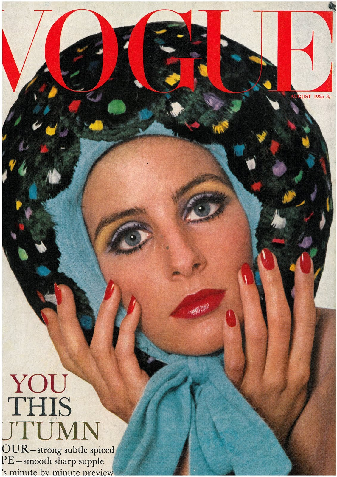 British Vogue Cover August 1965