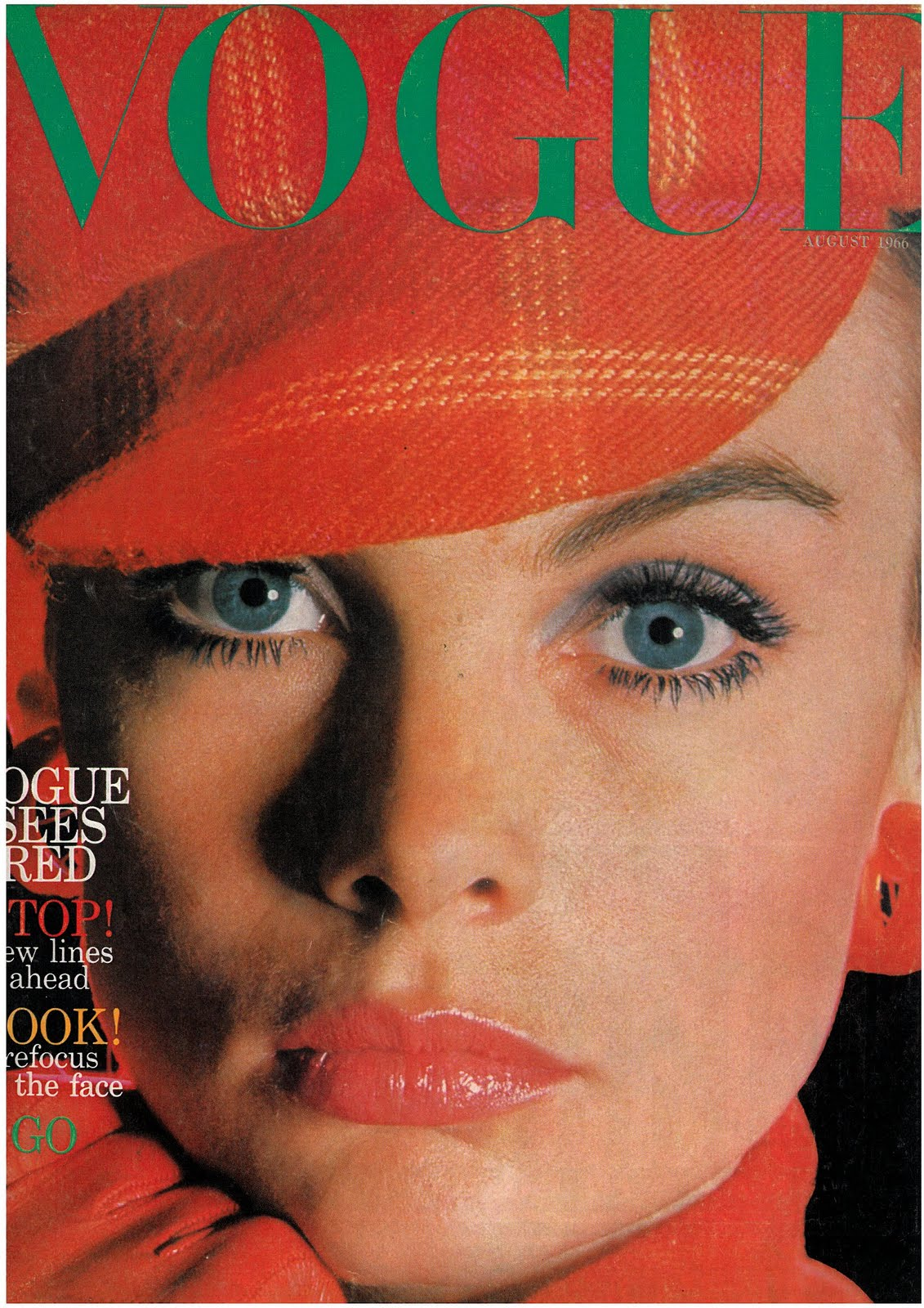 British Vogue Cover August 1966