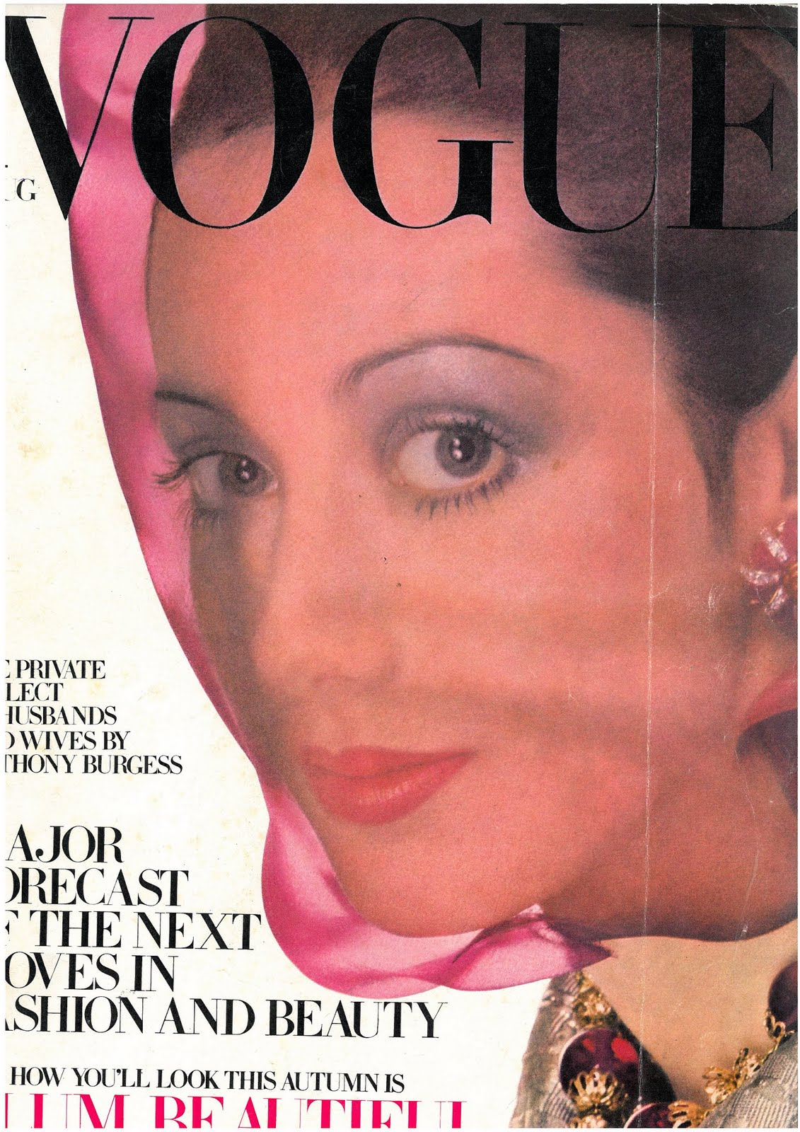 British Vogue Cover August 1968
