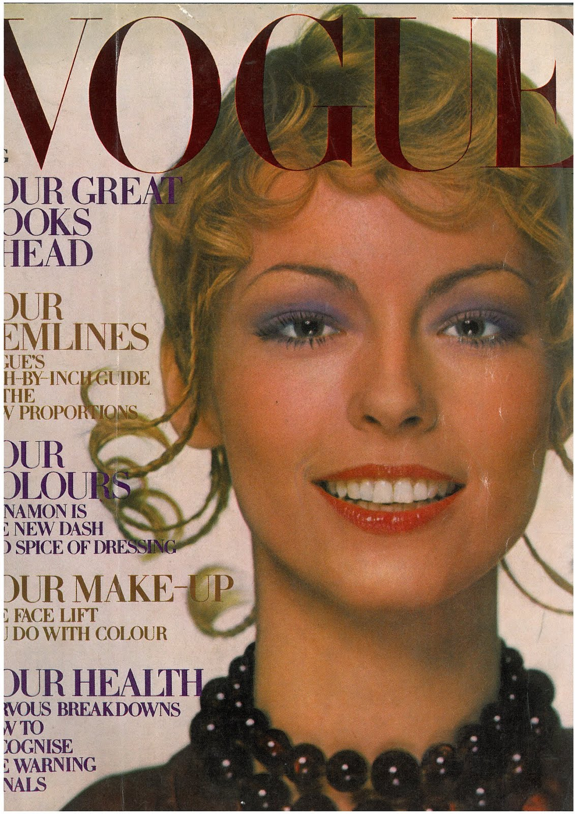 British Vogue Cover August 1970
