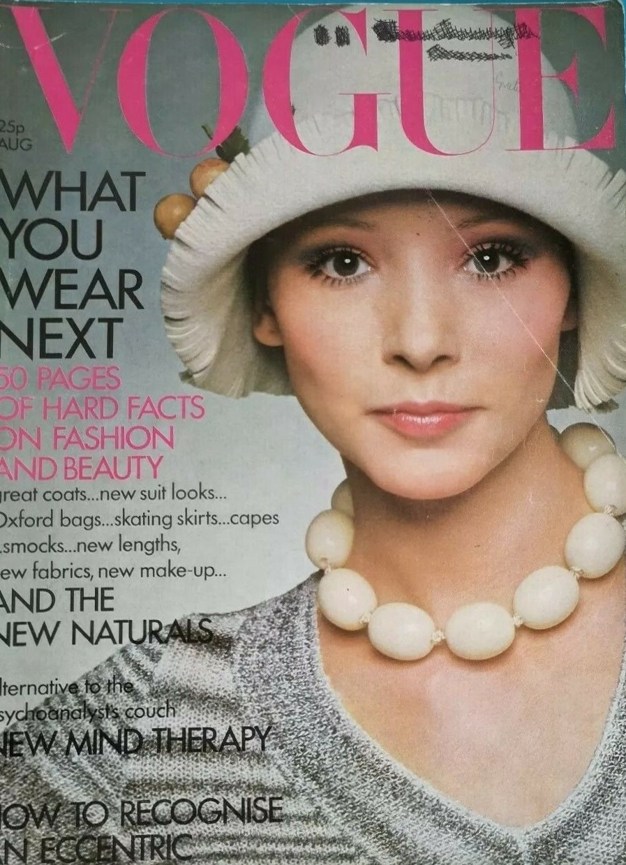 British Vogue Cover August 1971