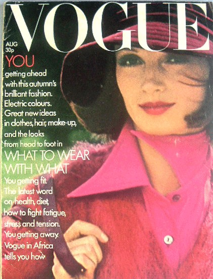 British Vogue Cover August 1972