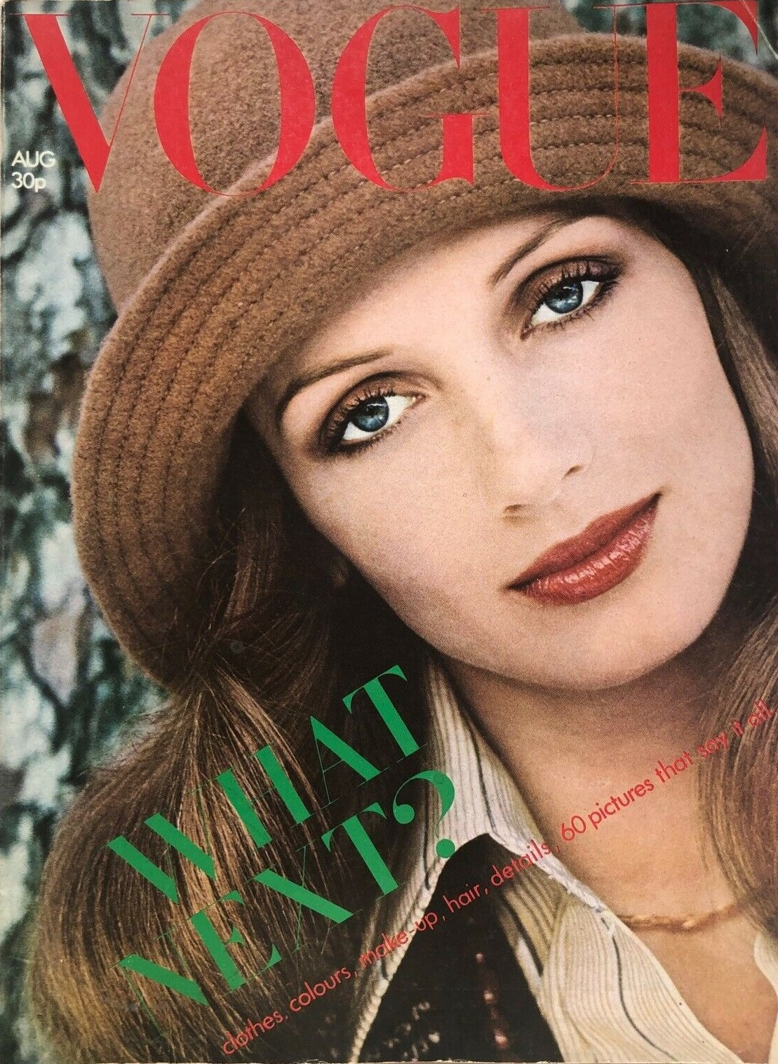 British Vogue Cover August 1973