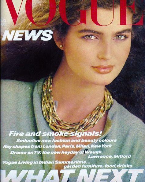British Vogue Cover August 1980