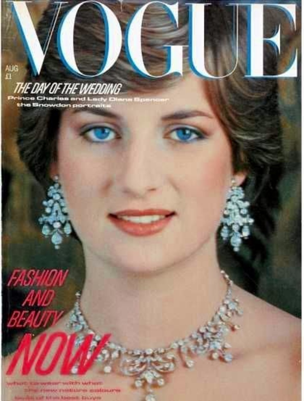 British Vogue Cover August 1981