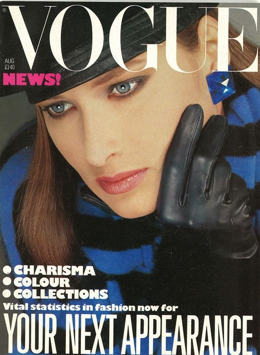 British Vogue Cover August 1983