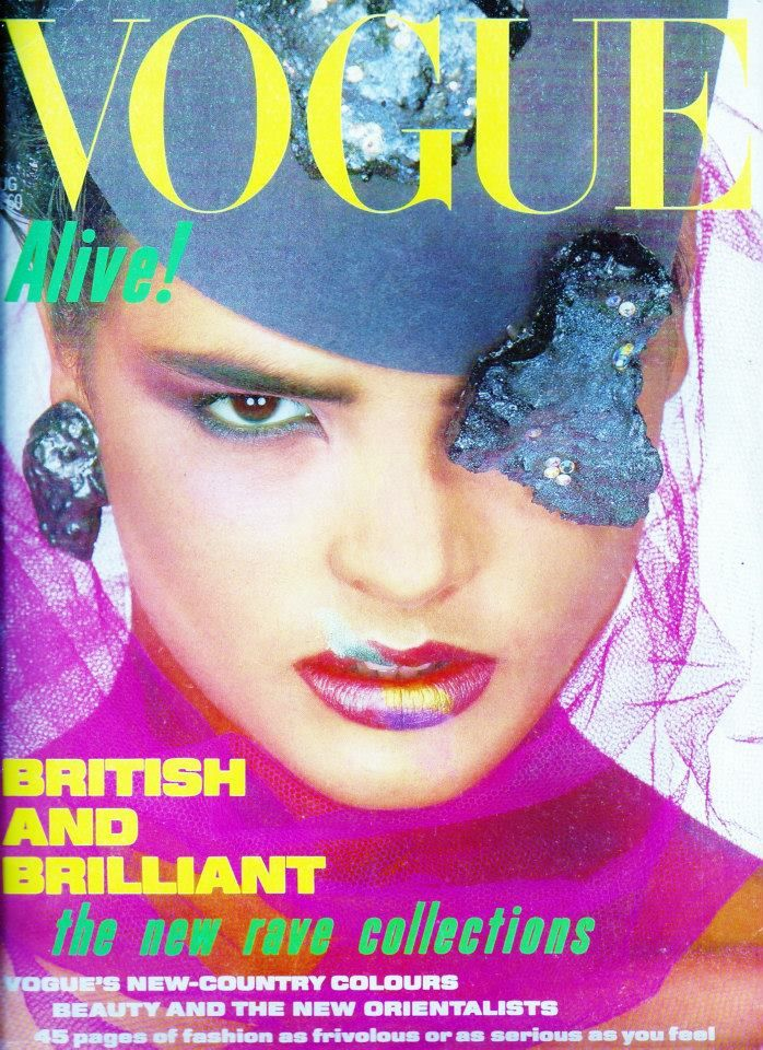 British Vogue Cover August 1984