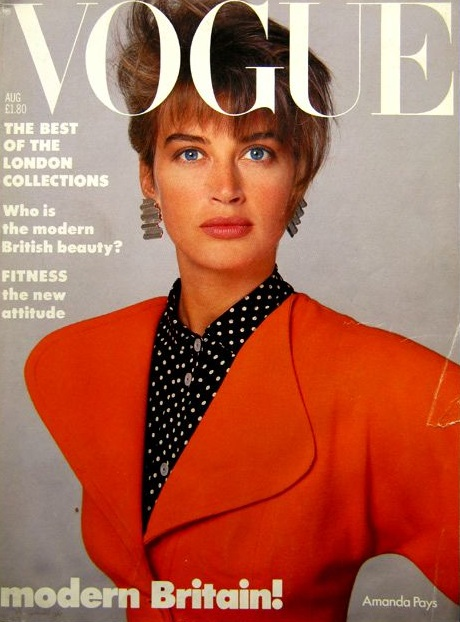 British Vogue Cover August 1986