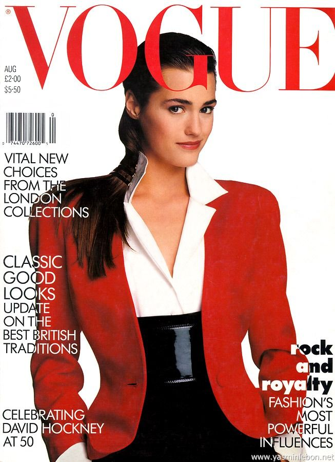 British Vogue Cover August 1987