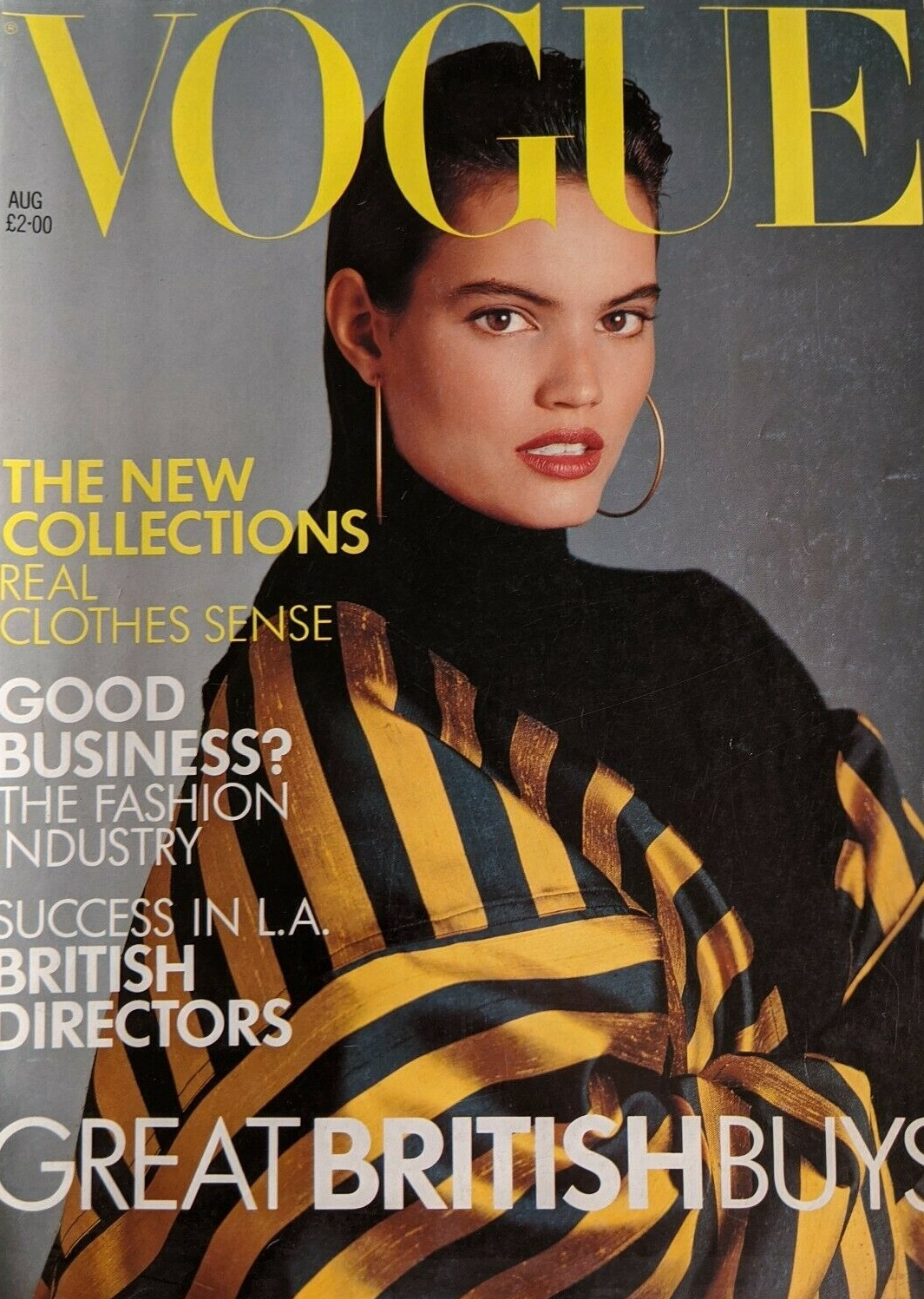 British Vogue Cover August 1988