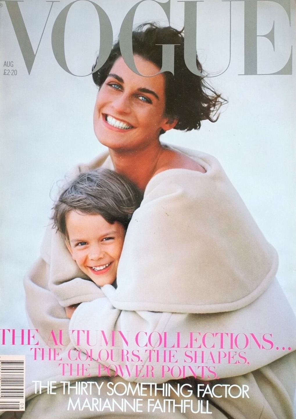 British Vogue Cover August 1989