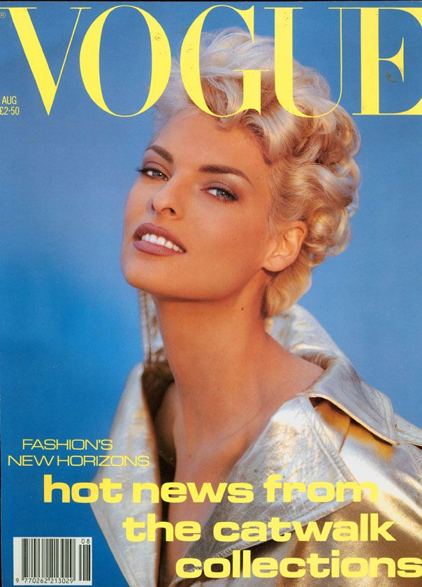 British Vogue Cover August 1991