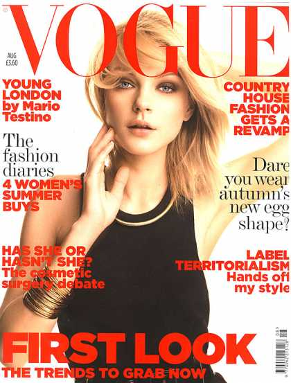 British Vogue Cover August 2006