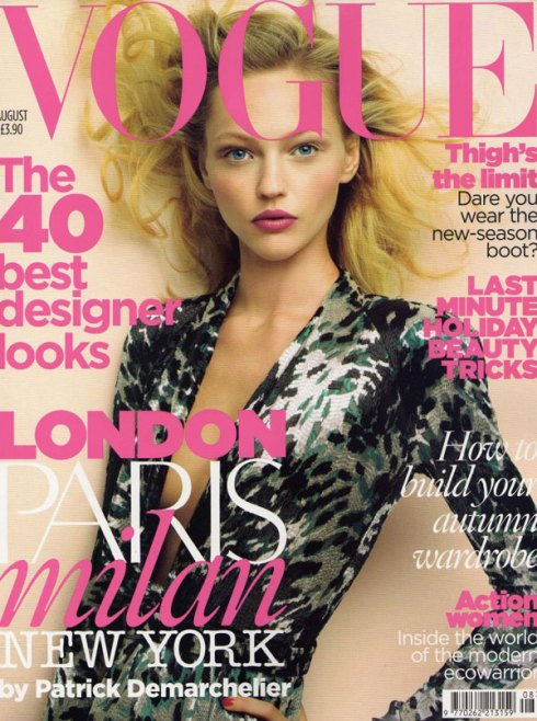 British Vogue Cover August 2009