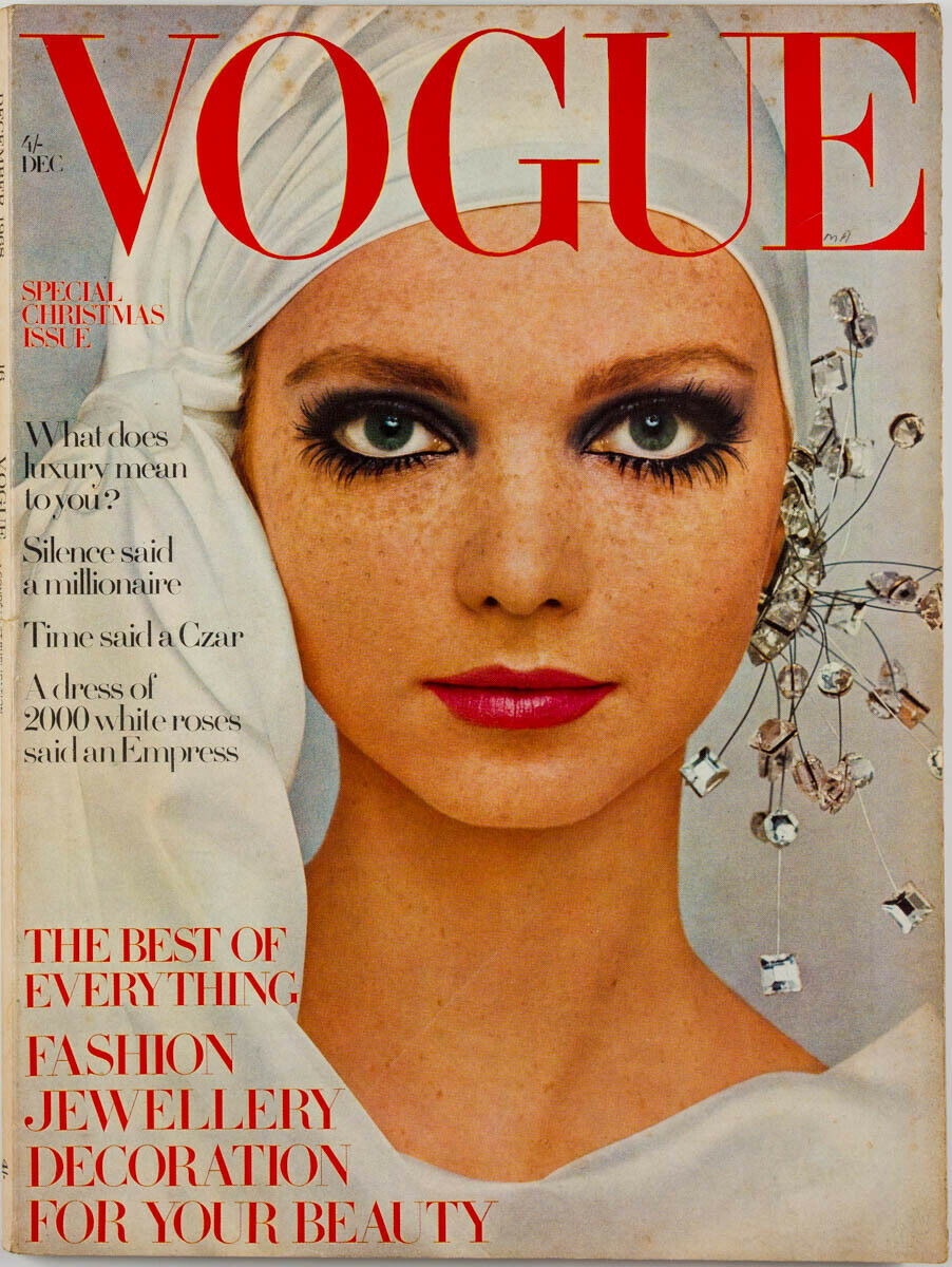 British Vogue Cover December 1968