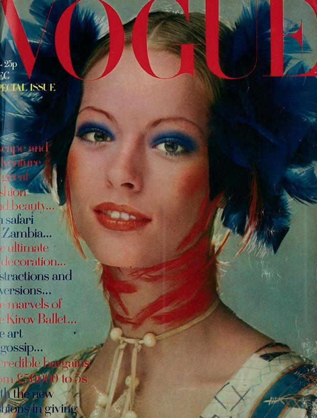 British Vogue Cover December 1970