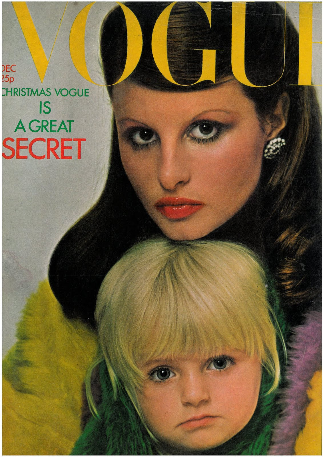 British Vogue Cover December 1971