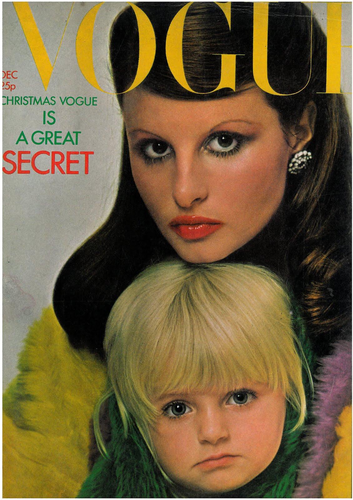 British Vogue Cover December 1971