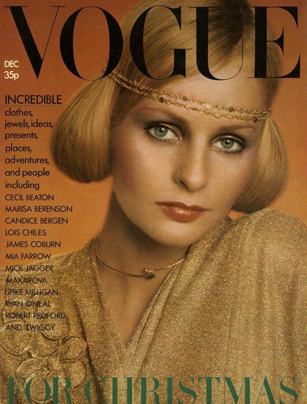 British Vogue Cover December 1973