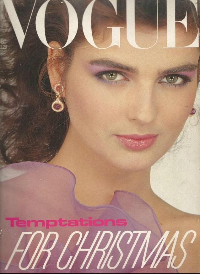 British Vogue Cover December 1981