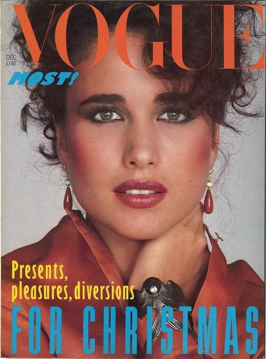 British Vogue Cover December 1982