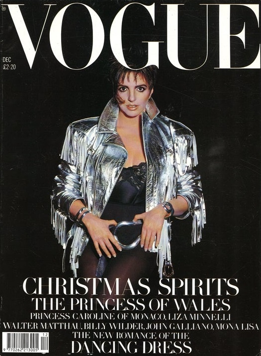 British Vogue Cover December 1985