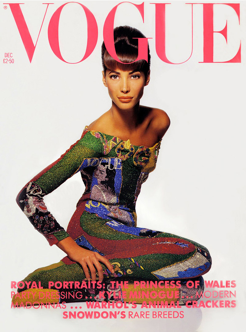 British Vogue Cover December 1990